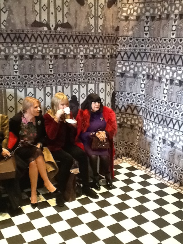 Women drinking tea at Tata-Naka AW12